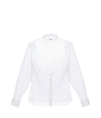 Organdy Mao Collar Bib Shirt