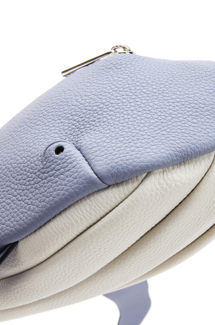 LOEWE Whale Crossbody Bag In Soft Grained Calfskin Blueberry/Soft White pdp_rd