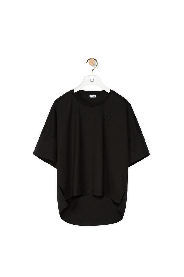 LOEWE Anagram cropped t-shirt in cotton Black pdp_rd