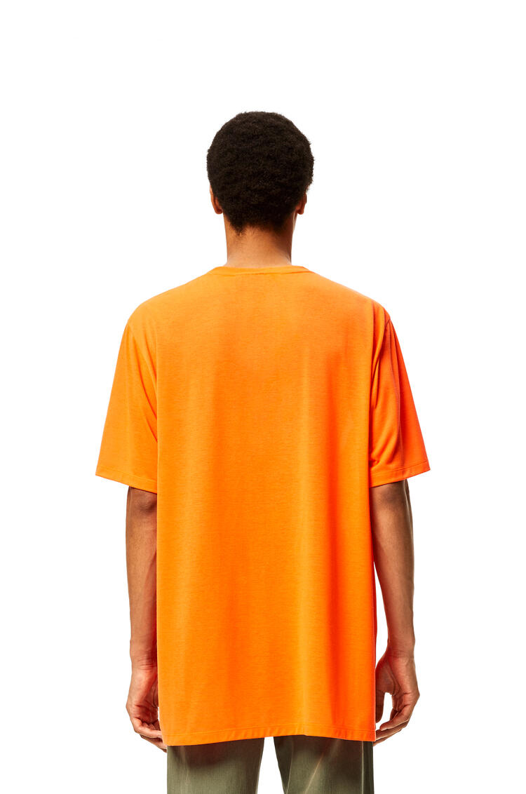 LOEWE Oversize T-shirt in waterlily polyester Fluo Orange pdp_rd