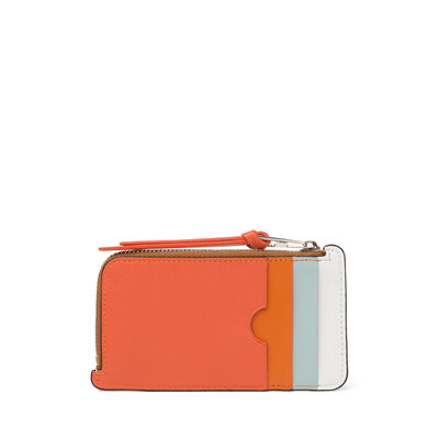 LOEWE Rainbow Coin/Card Holder Tan/Multicolor front