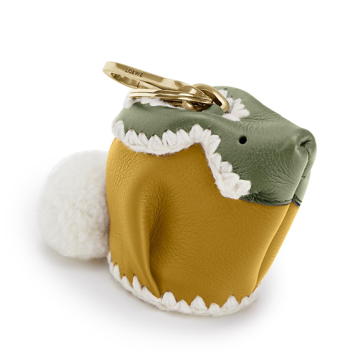LOEWE Charm Conejo Crochet Ocre/Musco front
