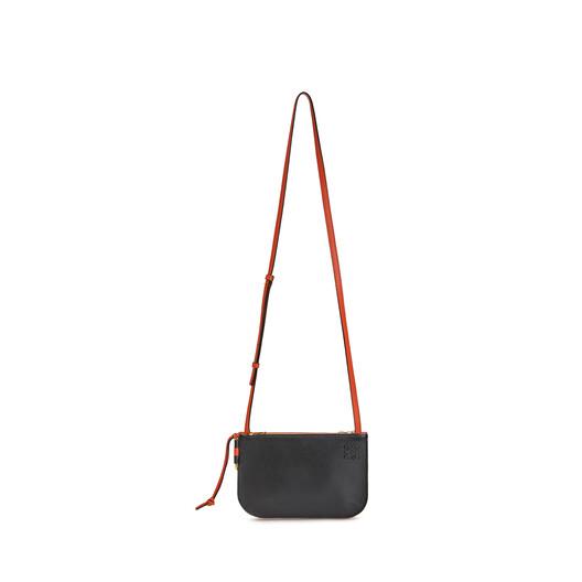 LOEWE Gate Double Zip Pouch Vermillion/Black front