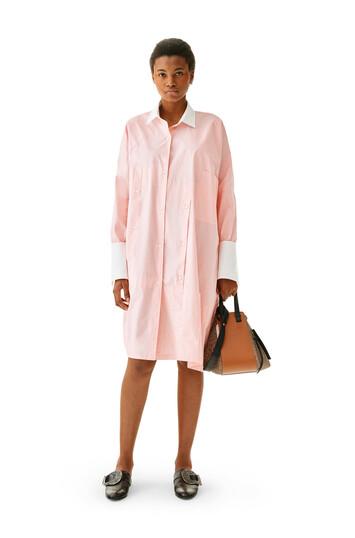 LOEWE Oversize Shirtdress Pink/White front