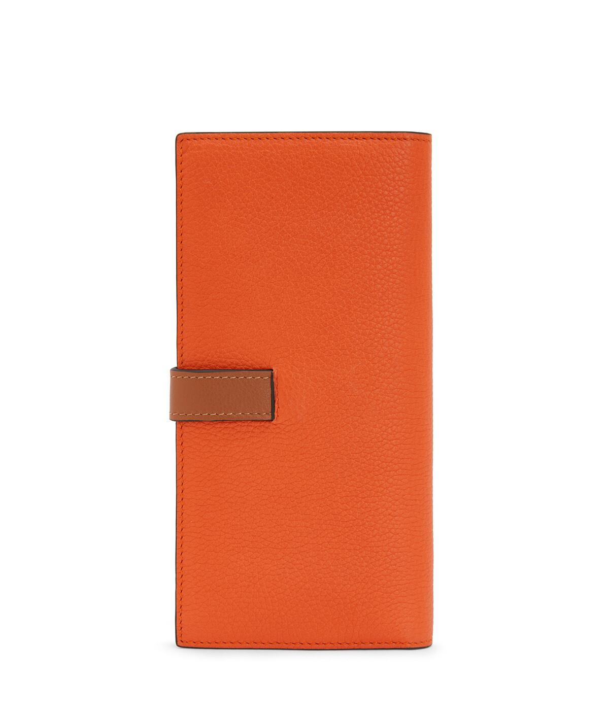 LOEWE Billetero Largo Vertical Naranja front