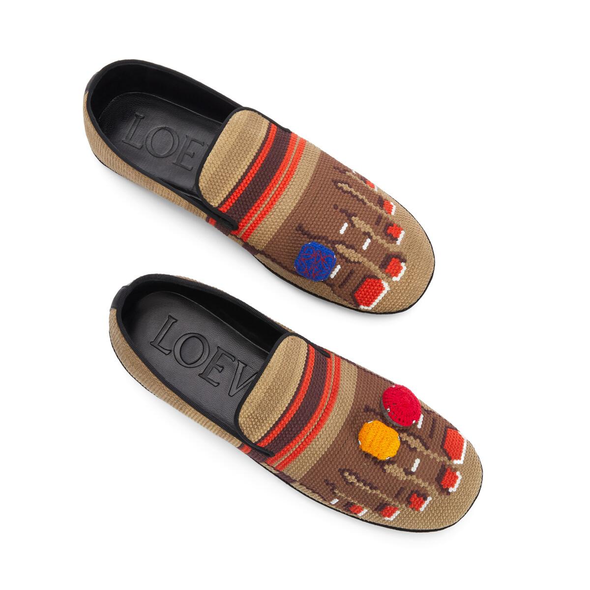 LOEWE Foot Slipper Sand/Brown front