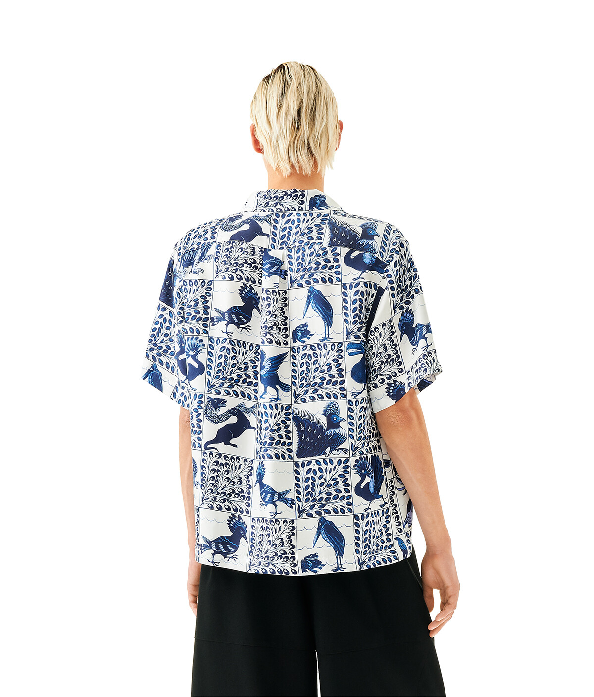 LOEWE Bowling Shirt Azul/Blanco front
