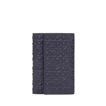 LOEWE Small vertical wallet in calfskin Navy Blue pdp_rd