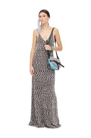LOEWE Metallic Dress Gris Claro front