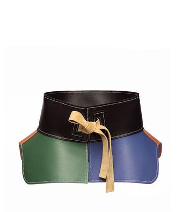 LOEWE Cinturon Obi Bronceado/Verde front