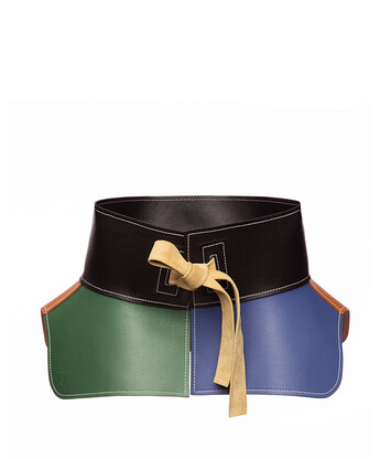 LOEWE Obi Belt Tan/Green front