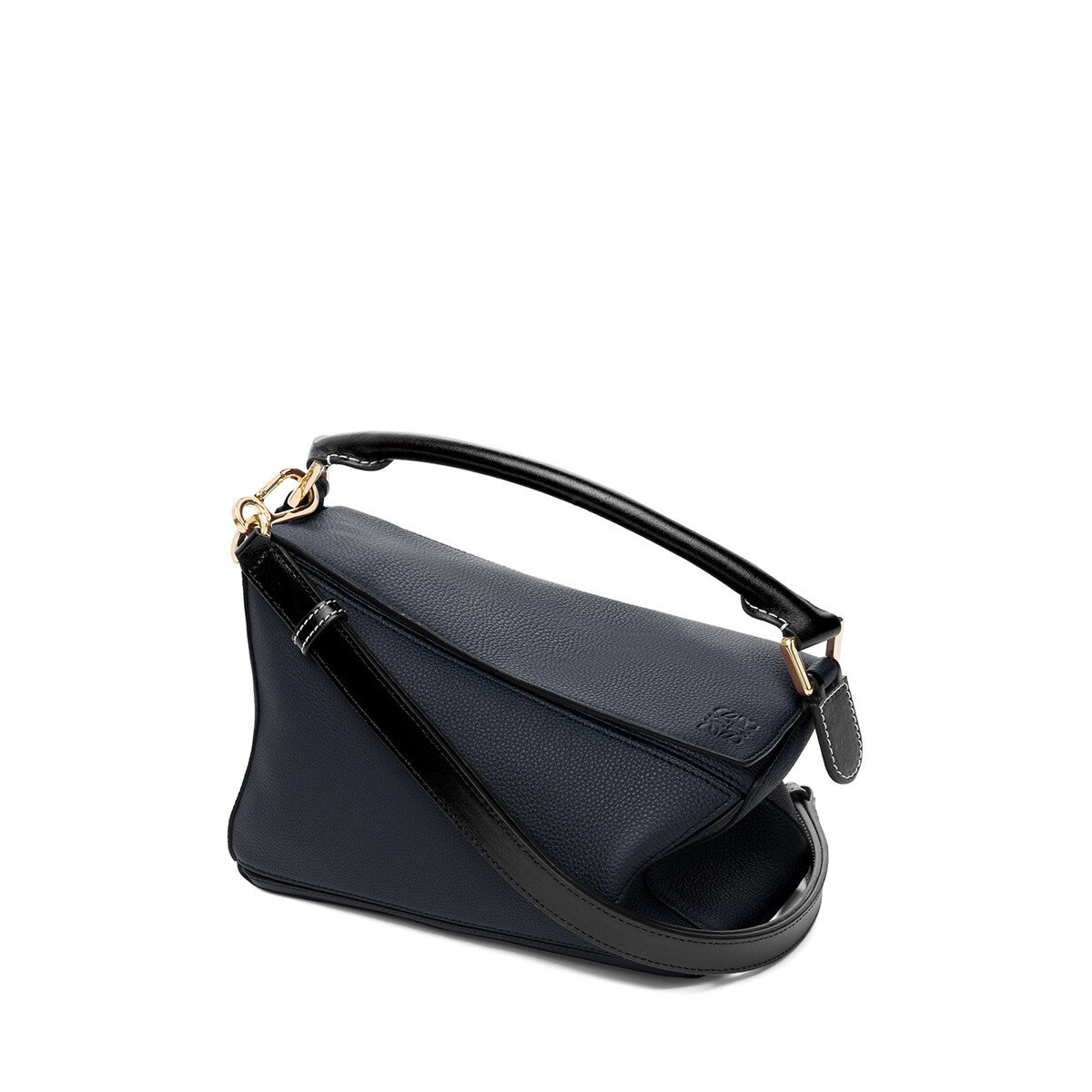 LOEWE Puzzle Small Bag Midnight Blue/Black front