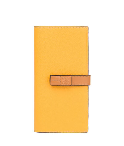 LOEWE Large Vertical Wallet Yellow Mango/Honey front