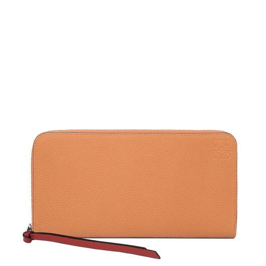 LOEWE Zip Around Wallet Light Caramel/Pecan Color  all