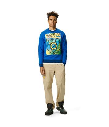 LOEWE Eye Loewe Sweatshirt Azul Electrico front