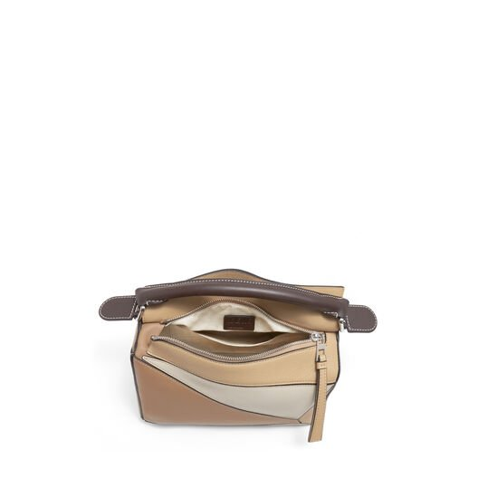 LOEWE Puzzle Small Bag Mocca Multitone front