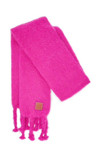LOEWE 45X230 Scarf Plain Rosa front