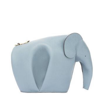 LOEWE Elephant Mini Bag Stone Blue front