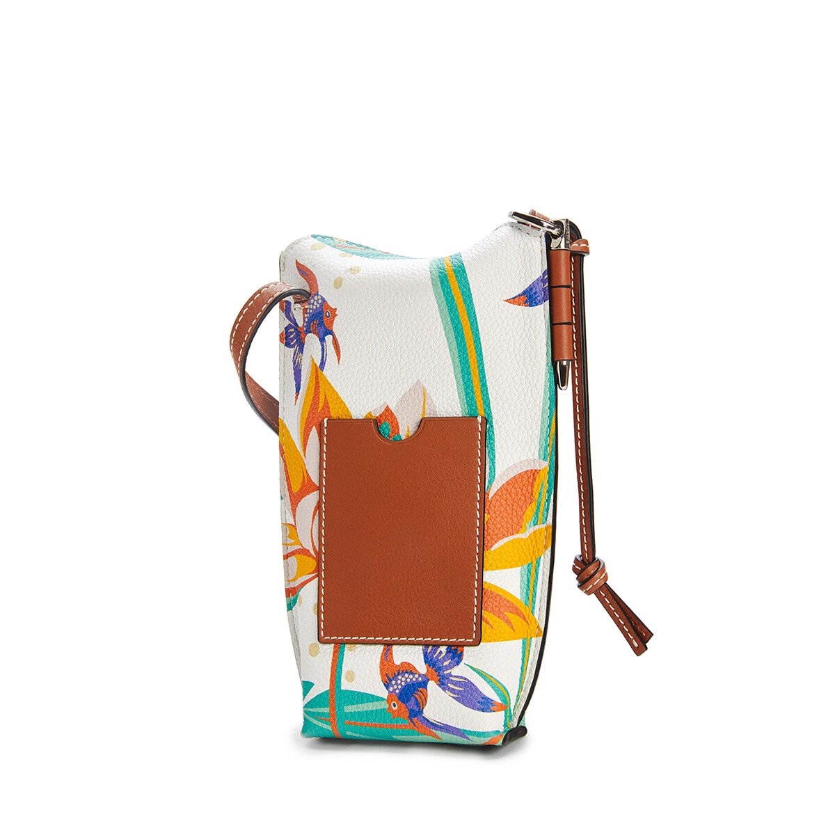 LOEWE Gate Pocket In Waterlily Classic Calfskin White front