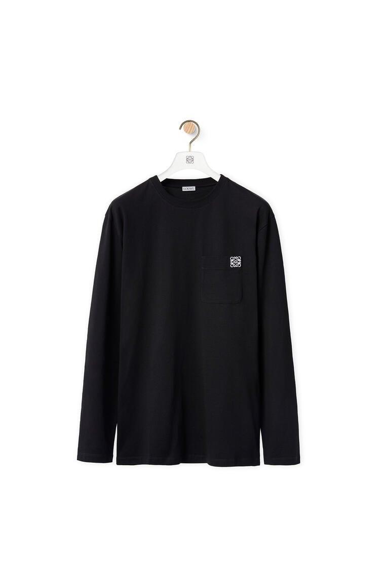 LOEWE Anagram 圆领长袖T恤 黑色 pdp_rd
