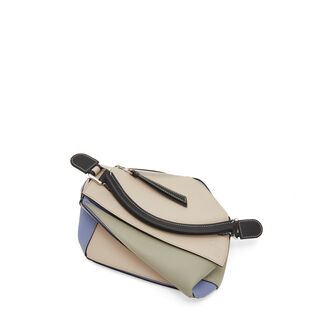 LOEWE Puzzle Small Bag Light Oat/Sage front