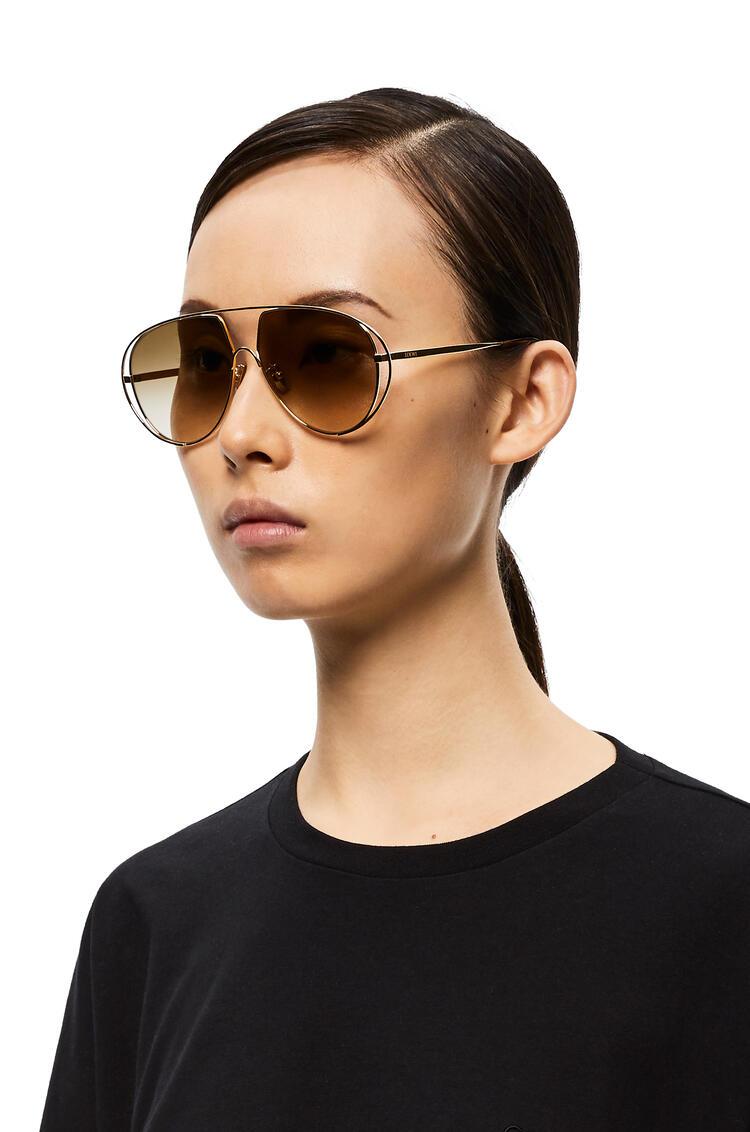 LOEWE Metal Pilot Sunglasses 沙色 pdp_rd