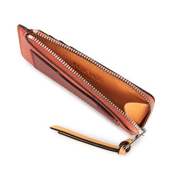 LOEWE Coin Cardholder Large Orange front