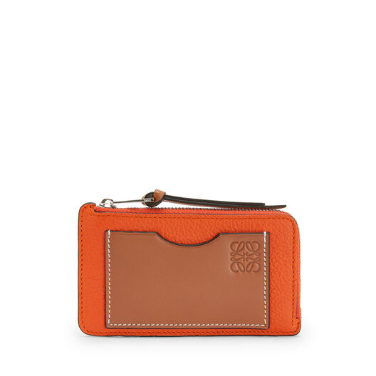 LOEWE Coin/Card Holder Large Orange front