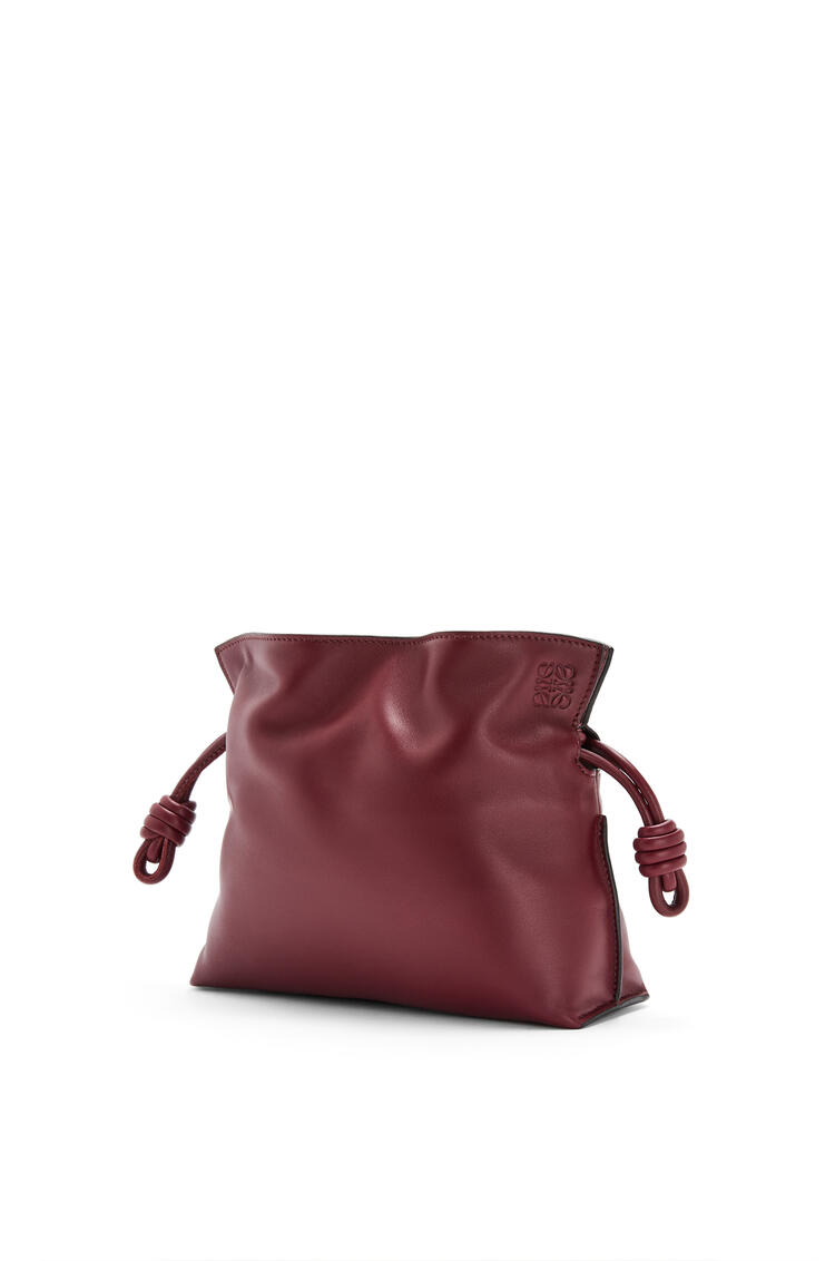 LOEWE Mini Flamenco clutch in nappa calfskin Malbec pdp_rd