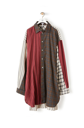 LOEWE Oversize Patchwork Shirt Multicolor front