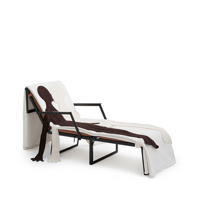 LOEWE Set Folding Chair And Figures Black/Multicolor front