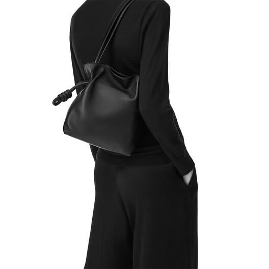 LOEWE Flamenco Knot Small Bag Black front