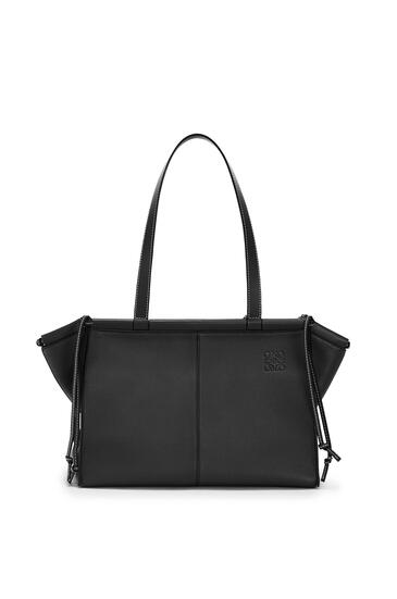 LOEWE Small Cushion Tote bag in soft grained calfskin Black pdp_rd