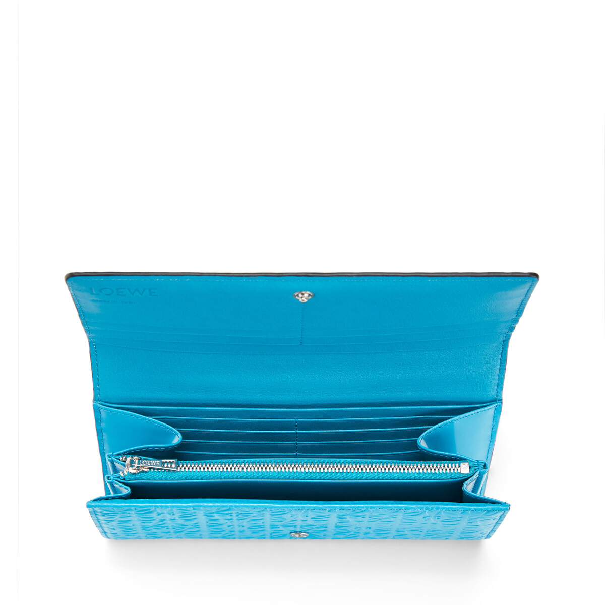 LOEWE Billetero Continental Azul Pavo Real front