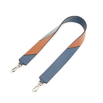 LOEWE Degrade Strap Steel Blue/Tan front