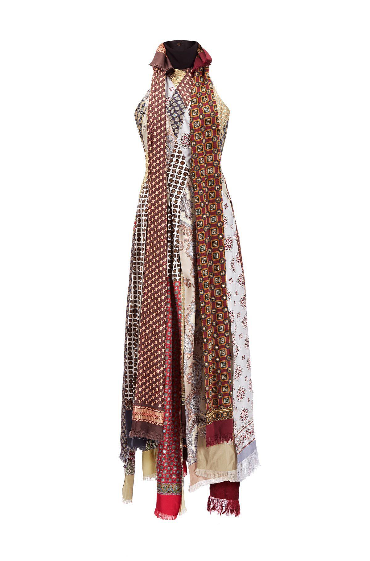 Patchwork Scarf Dress