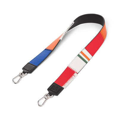 LOEWE Patchwork Thin Strap Multicolor front