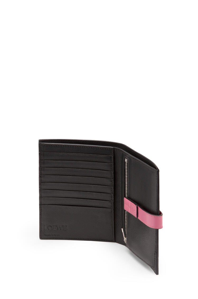 LOEWE Medium Vertical Wallet In Soft Grained Calfskin Wild Rose/Raspberry pdp_rd