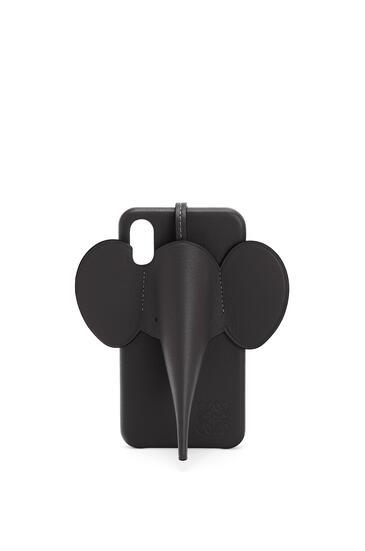 LOEWE iPhone X/XS用 エレファント カバー(クラシック カーフスキン) ブラック pdp_rd