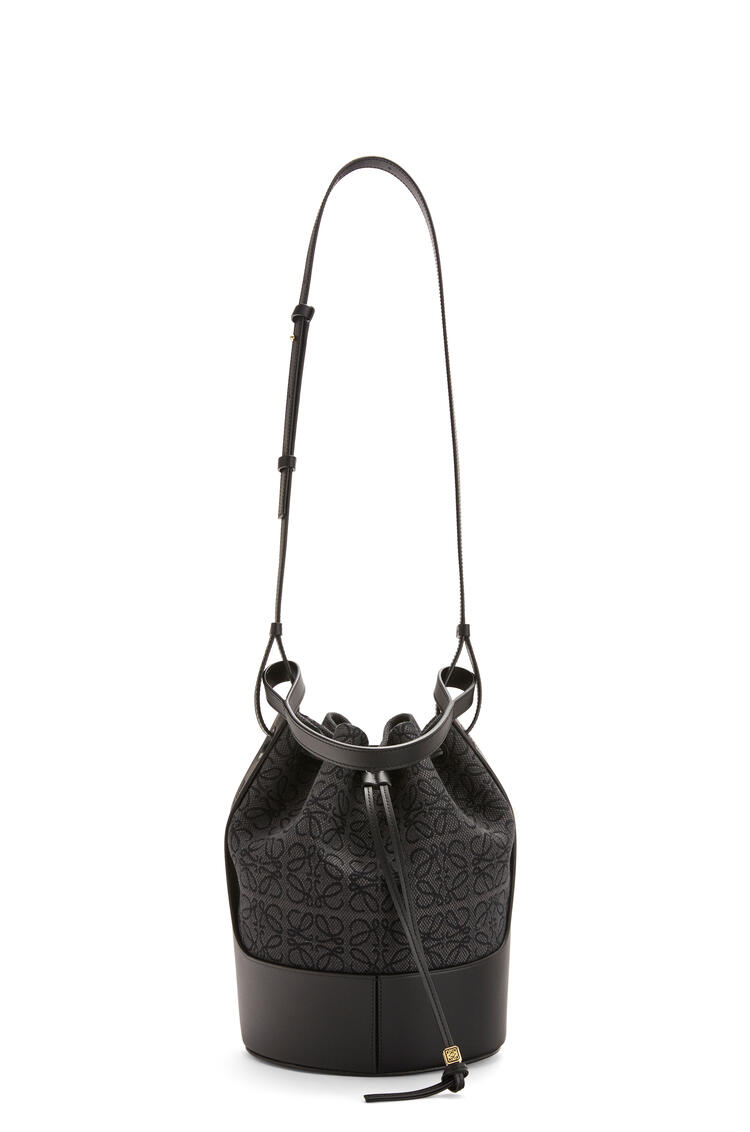 LOEWE Balloon bag in Anagram jacquard and calfskin Anthracite/Black pdp_rd