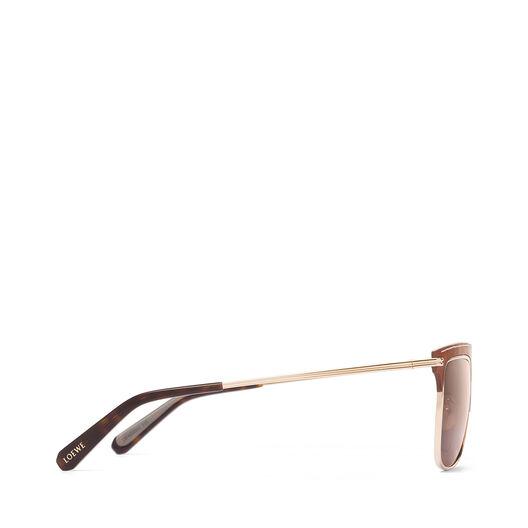 LOEWE Square Sunglasses 棕色/深棕色 all