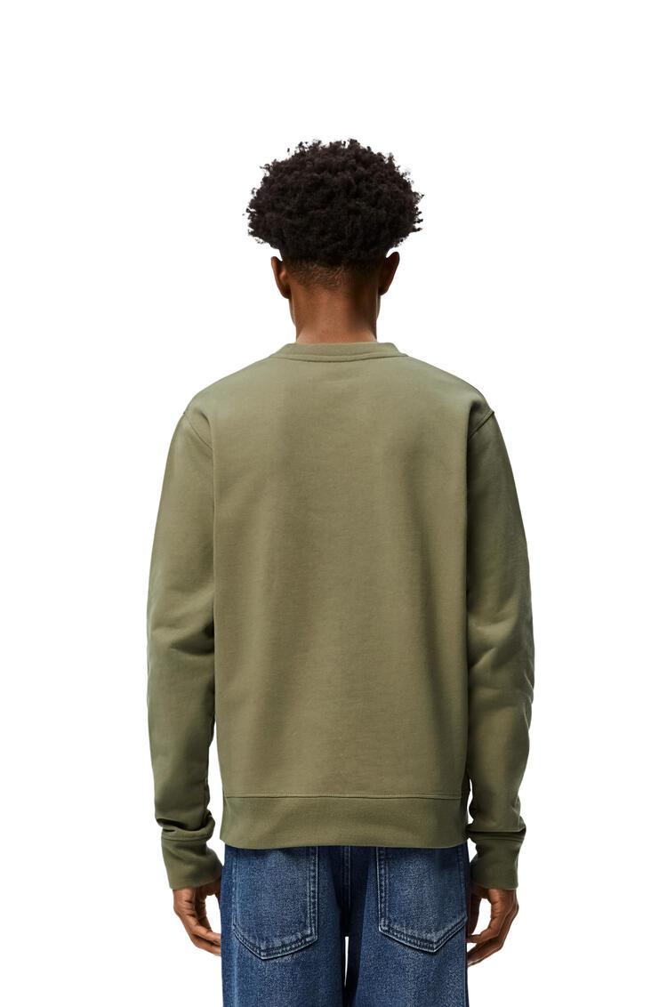 LOEWE Sudadera en algodón bordada Verde Militar Viejo pdp_rd
