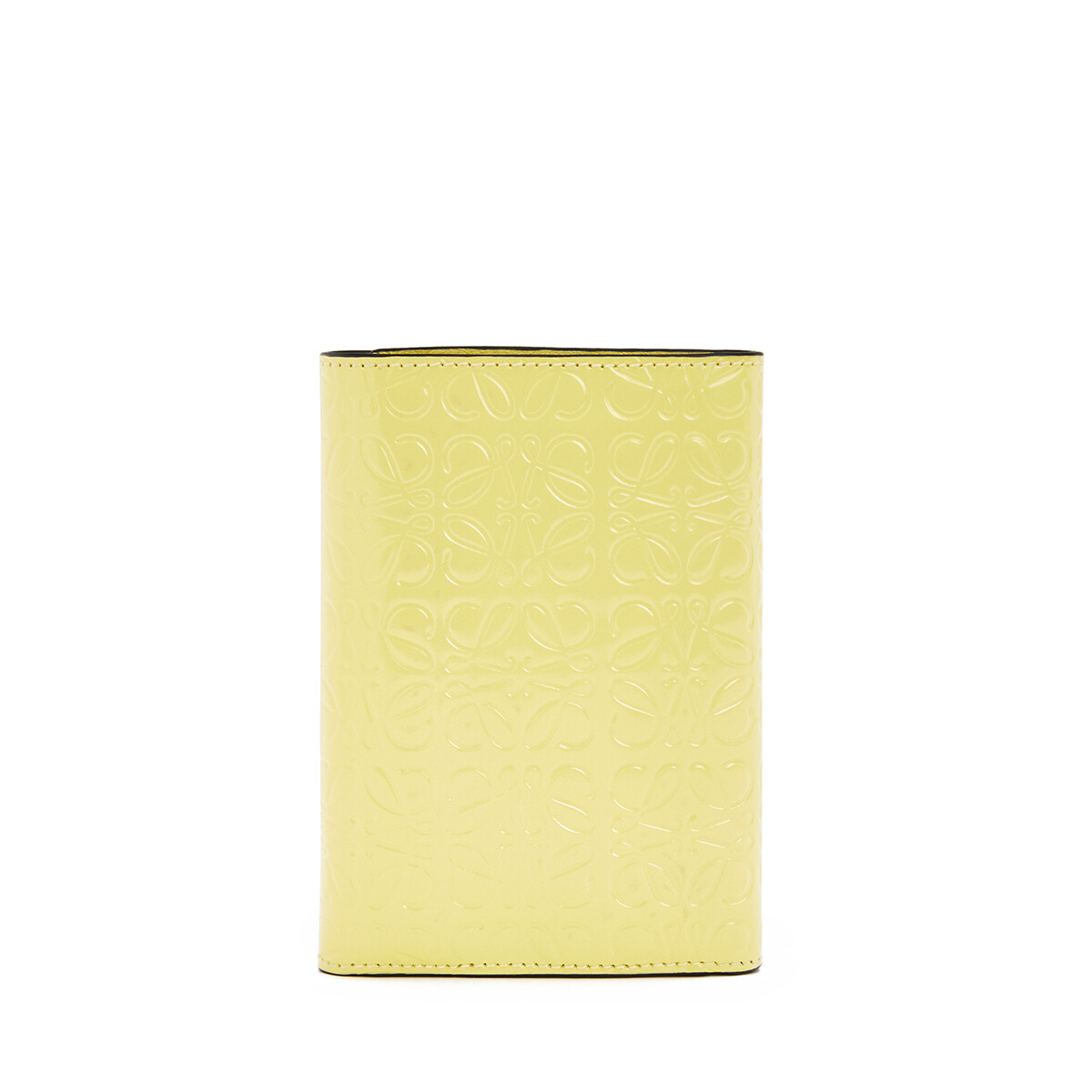 LOEWE Small Vertical Wallet Yellow front