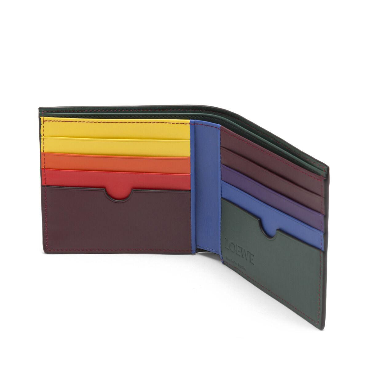 LOEWE Rainbow Bifold Wallet Multicolor/Black front