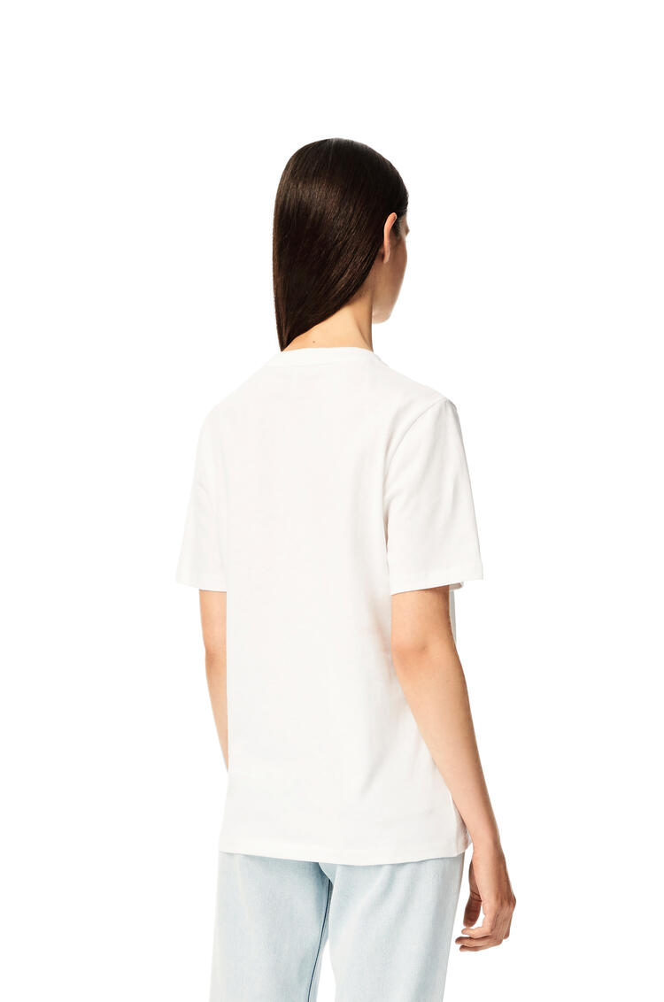 LOEWE Anagram brooch print T-shirt in cotton White pdp_rd