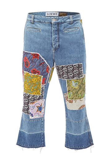 LOEWE Paula Patch Fisherman Jeans Indigo/Multicolour front