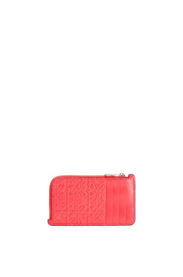LOEWE Coin cardholder in calfskin Poppy Pink pdp_rd