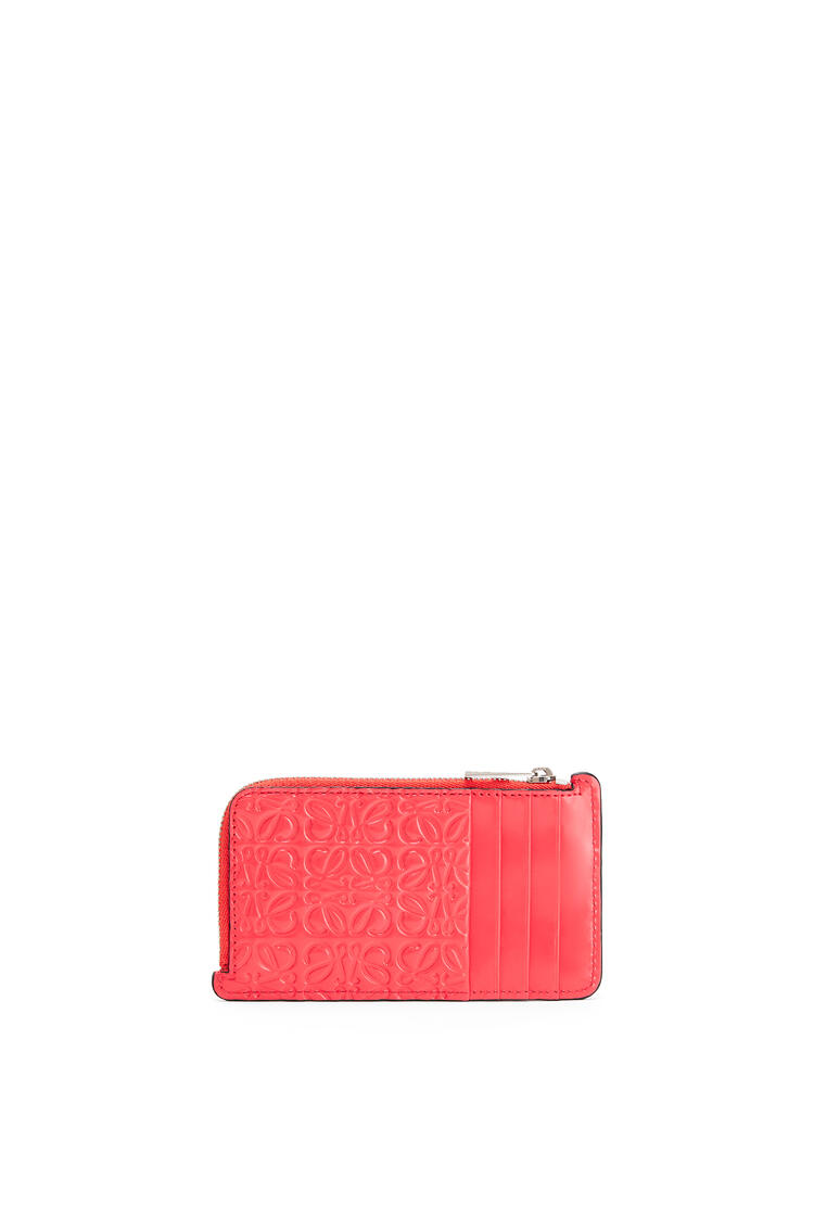 LOEWE Coin cardholder in calfskin Poppy Pink pdp_rd