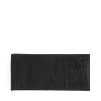 LOEWE Linen Long Horizontal Wallet 黑色 front