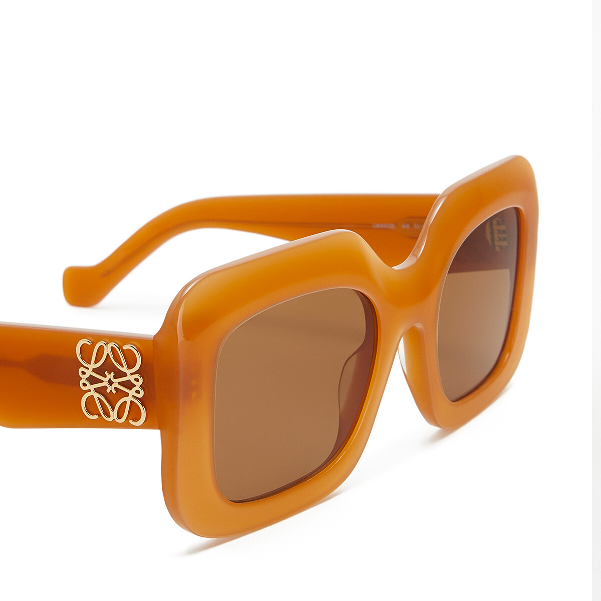 LOEWE Acetate Rectangular Sunglasses Apricot front